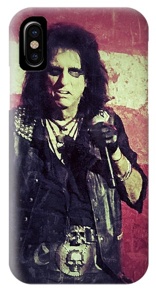 Alice Cooper iPhone Case - Alice by Dave Bowman
