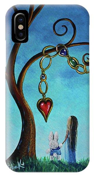 Alice In Wonderland Art - Alice And The Jeweled Tree IPhone Case