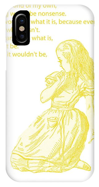 Alice In Wonderland iPhone Case - Alice In Wonderland - If I Had A World Of My Own by Georgia Fowler