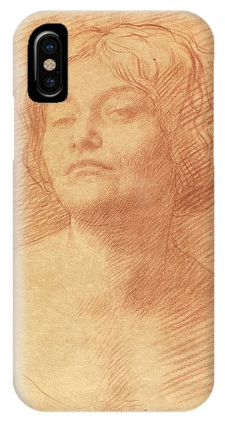 Pastel Pencil iPhone Case - Alice Knewstub by Alphonse Legros