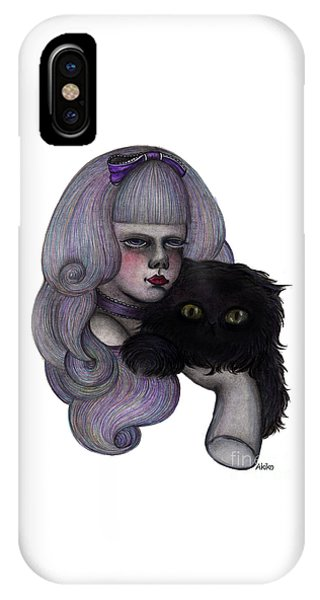 Alice With Black Cat IPhone Case