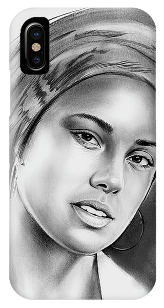 Rhythm And Blues iPhone X / XS Case - Alicia Keys 2 by Greg Joens