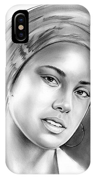 Rhythm And Blues iPhone X / XS Case - Alicia Keys by Greg Joens