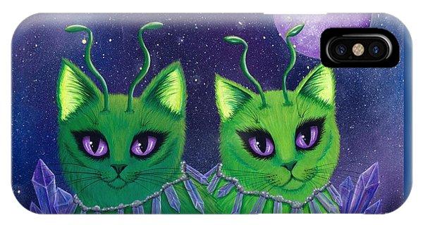 Alien Cats IPhone Case