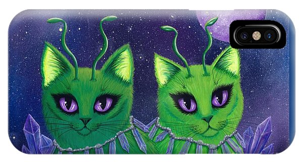 Alien Cats IPhone Case
