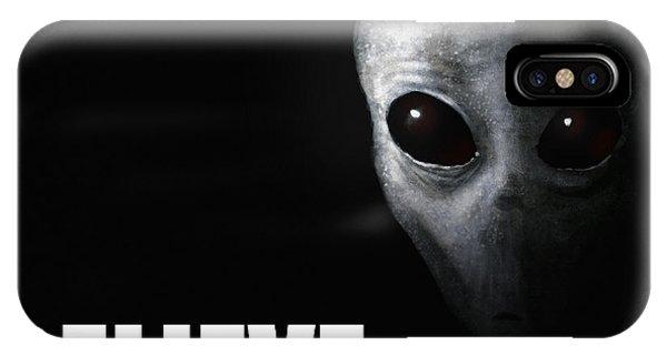 Strange iPhone Case - Alien Grey - Believe by Pixel Chimp