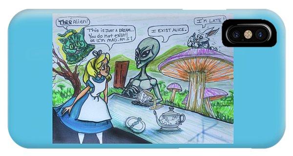 Alien In Wonderland IPhone Case