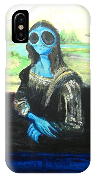 alien Mona Lisa IPhone Case