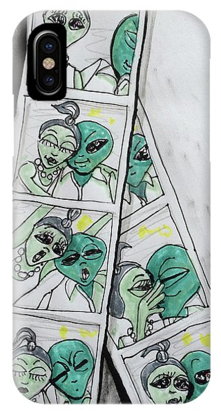 alien Photo Booth  IPhone Case