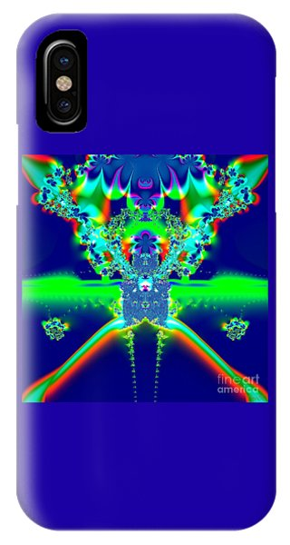 Alien Poodle Fractal 96 IPhone Case