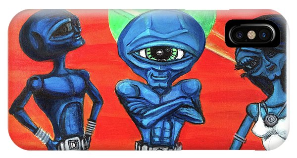 Alien Posse IPhone Case
