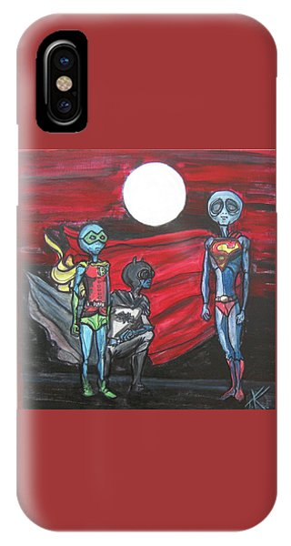Alien Superheros IPhone Case