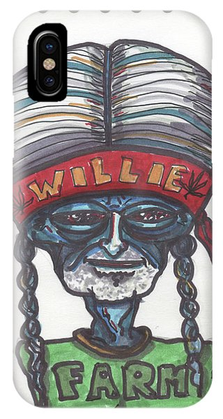 alien Willie Nelson IPhone Case