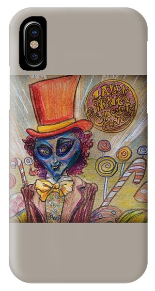 Alien Wonka And The Chocolate Factory IPhone Case