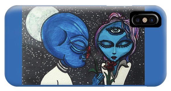 Aliens Love Flowers IPhone Case