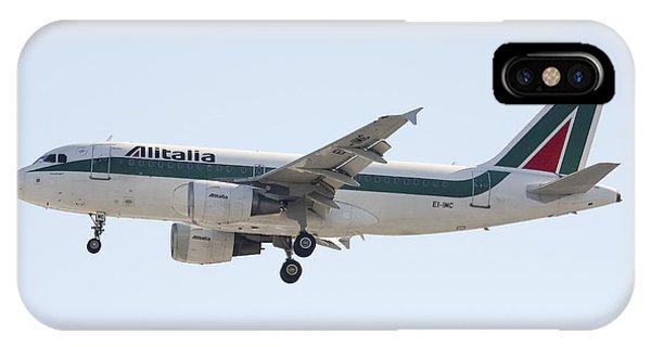 Alitalia iPhone Case - Alitalia Airbus A319 by Amos Dor