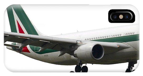 Alitalia iPhone Case - Alitalia, Airbus A330-202. by Amos Dor
