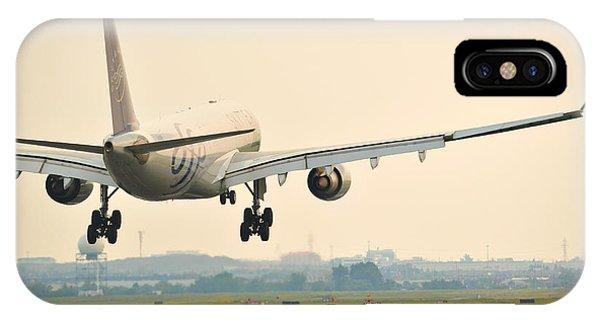 Alitalia iPhone Case - Alitalia Skyteam A330-200 by Carson McGinness