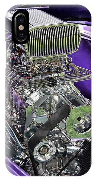 All Chromed Engine With Blower IPhone Case