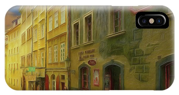 All Downhill From Here - Prague Street Scene IPhone Case