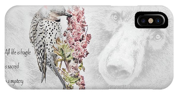 Northern Flicker iPhone Case - All Life Matters by Everet Regal