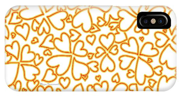 Repeat iPhone Case - All Over Hearts Pattern Design Floral Fiesta I By Megan Duncanson by Megan Duncanson