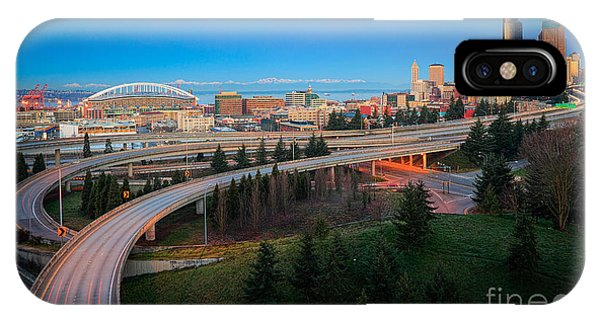 Downtown Seattle iPhone Case - All Roads Lead To Seattle by Inge Johnsson