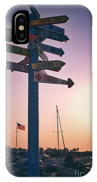 All Signs Point To Sunset Phone Case by Mark David Zahn Photography