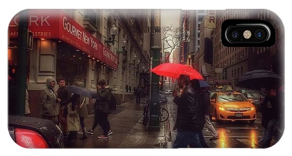 All That Jazz. New York In The Rain. IPhone Case