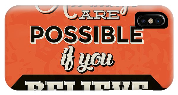 Laugh iPhone Case - All Things Are Possible If You Believe by Naxart Studio