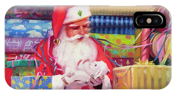 Santa Claus iPhone Case - All Wrapped Up by Steve Henderson