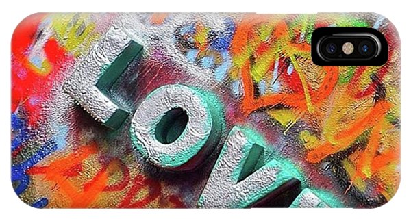 Word Art iPhone Case - All You Need Is #love. And Maybe by Austin Tuxedo Cat