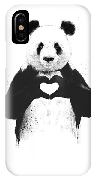 Animal iPhone Case - All You Need Is Love by Balazs Solti