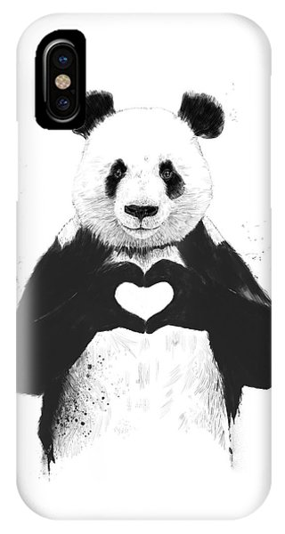 iPhone X Case - All You Need Is Love by Balazs Solti