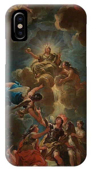 Divine Love iPhone Case - Allegory Of Divine Wisdom by Luca Giordano