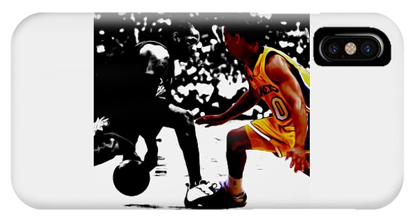 Kyrie Irving iPhone Case - Allen Iverson And Tyronn Lue by Brian Reaves