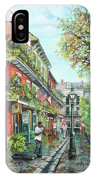 French Artist iPhone Case - Alley Jazz by Dianne Parks