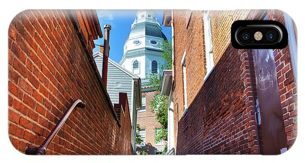 Alley View Of Maryland State House  IPhone Case