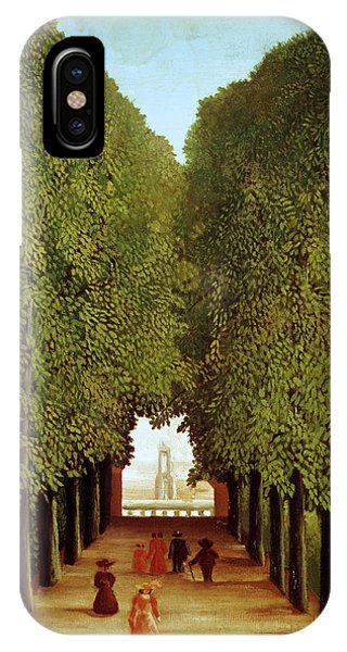 Park iPhone Case - Alleyway In The Park by Henri Rousseau