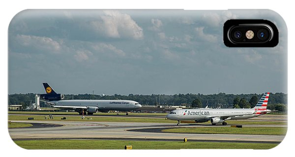 Allies In Passing Lufthansa Cargo American Airlines Atlanta Airport Art IPhone Case