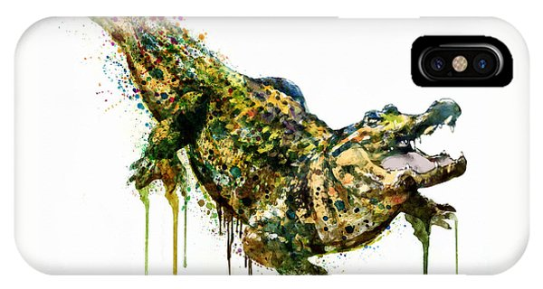 Alligator Watercolor Painting IPhone Case