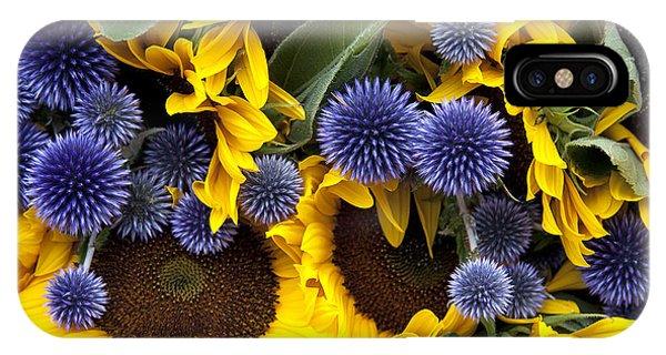 Allium And Sunflowers IPhone Case