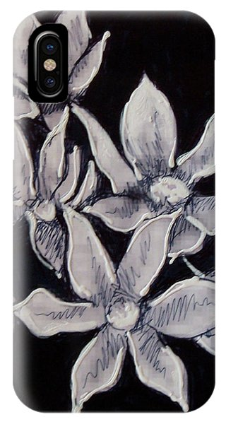 IPhone Case featuring the painting Allium Moly by Kym Nicolas
