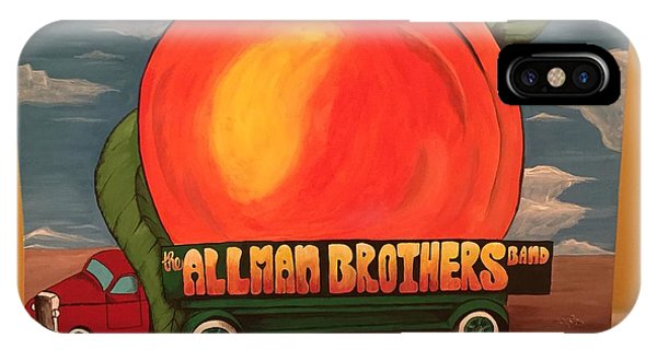 Peach iPhone Case - Allman Brothers Eat A Peach by Wes Beaver