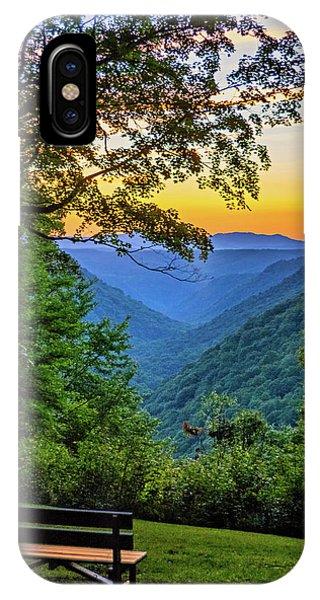 Park Bench iPhone Case - Almost Heaven - West Virginia 3 by Steve Harrington
