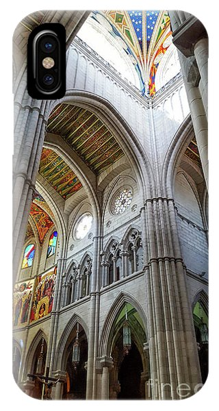 Almudena Cathedral Interior In Madrid IPhone Case