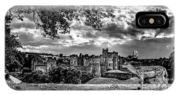 Alnwick Castle And Fallow Deer IPhone Case