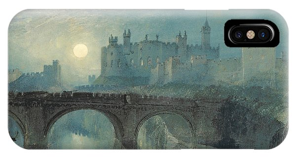 Castle iPhone X / XS Case - Alnwick Castle by Joseph Mallord William Turner