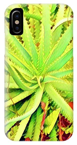 Aloha Aloe In Puna In Lime IPhone Case