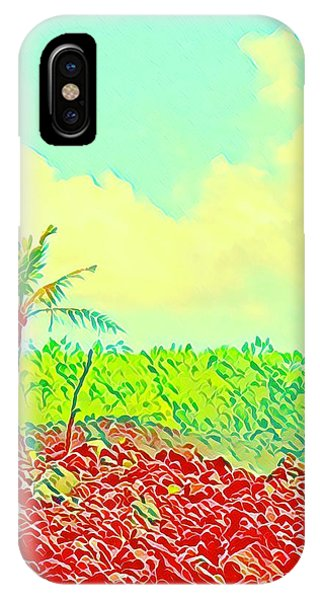 Aloha Lava Aina Hawaii Sky IPhone Case